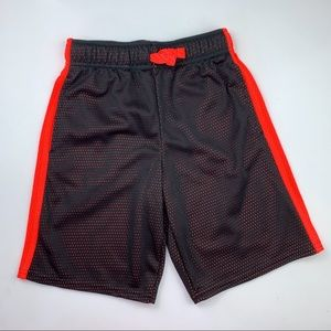 Jumping Beans black and bright orange mesh short 7